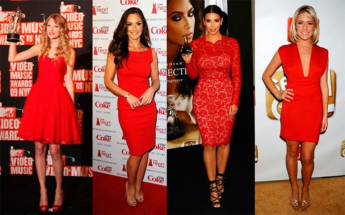 combinar zapatos con vestido rojo