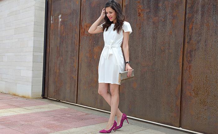 Zapatos para vestido blanco