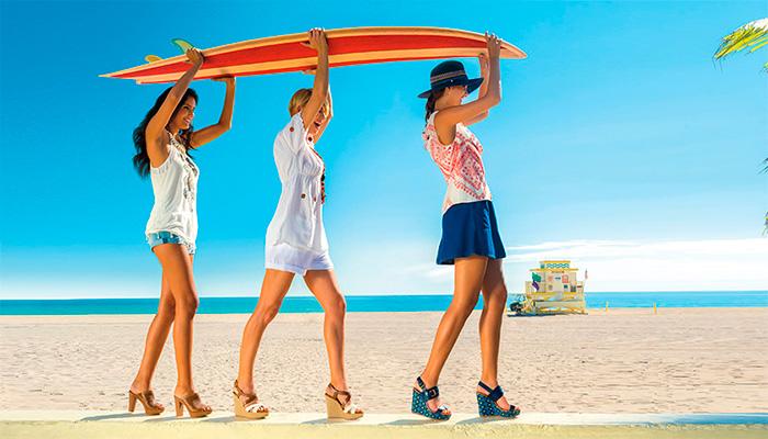 Zapatos para ir a la playa